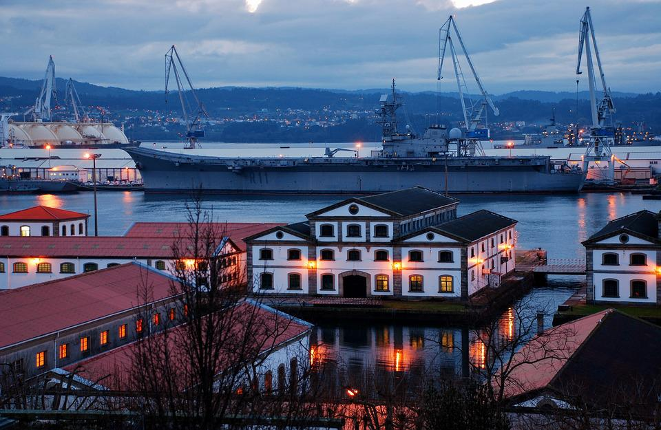 Waters, Travel, Sea, Port, Ship, Shipyard, Ferrol