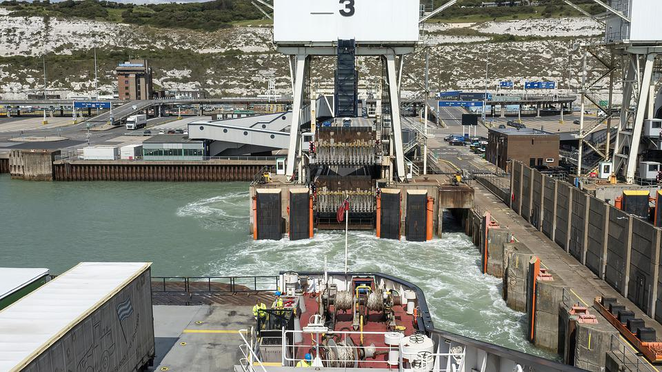 Ferry, Ferry Terminal, Dover, Ship, Transport