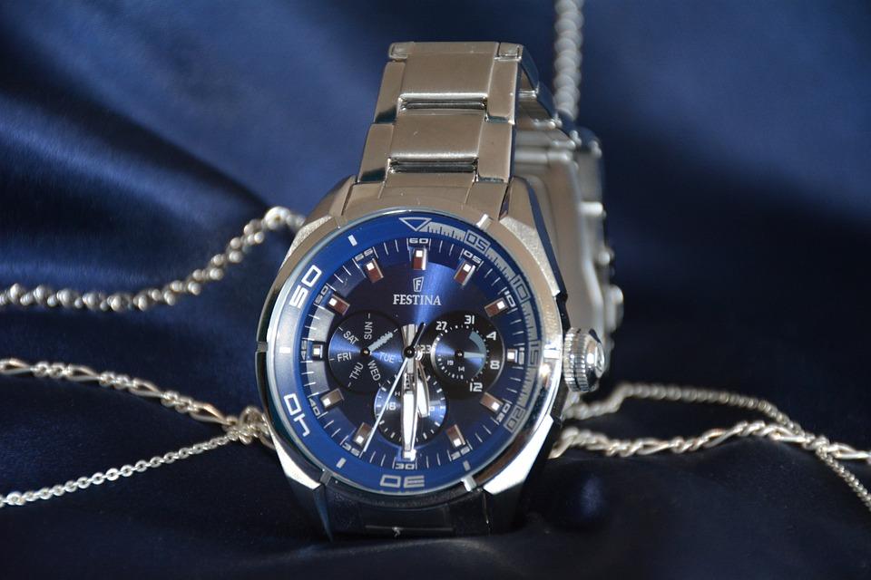 Watch, Festina, Luxury, Blue