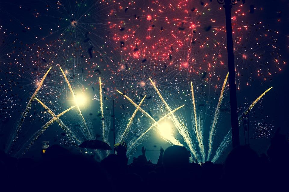 Fireworks, Sky, Explosion, Celebration, Night, Festival