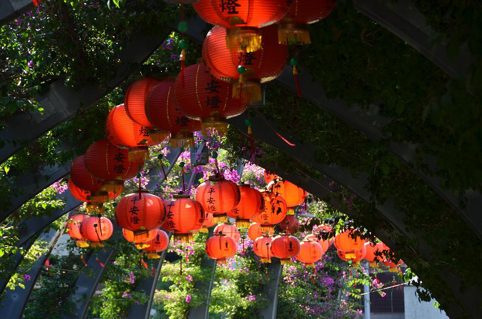 Chinese Lanterns, Buddha, Festival, Celebration, Event