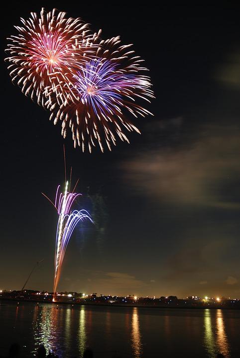 Fireworks, Hanabi, Colorful, Festival, Night, Sky