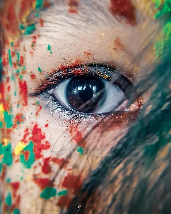 Holi, Girl, Indian, India, Dance, Fun, Paint, Festival