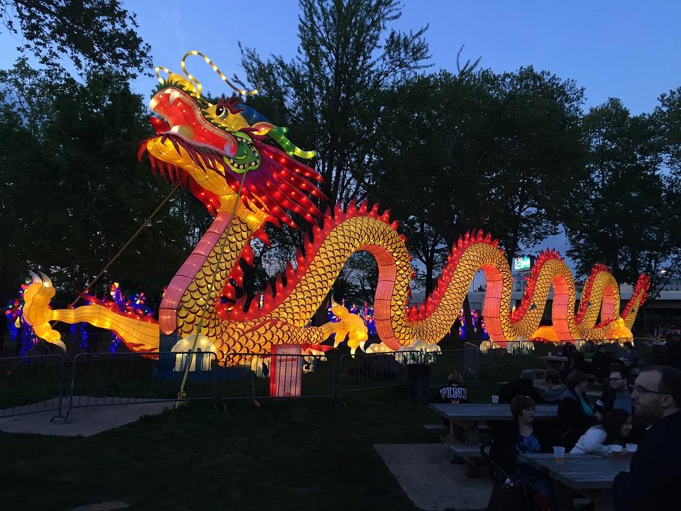 Chinese New Year, Chinese, Dragon, Festival, China