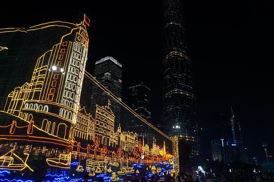 Festival Of Lights, Night View, Old Style, China, Asia