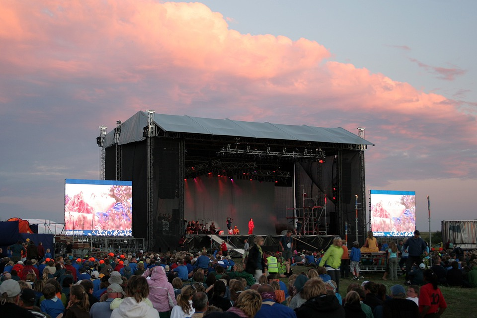 Concert, Stage, Festival, Open Air, Event, Viewers