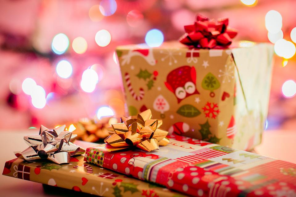 Christmas, Gifts, Presents, Wrapping, Bows, Festive