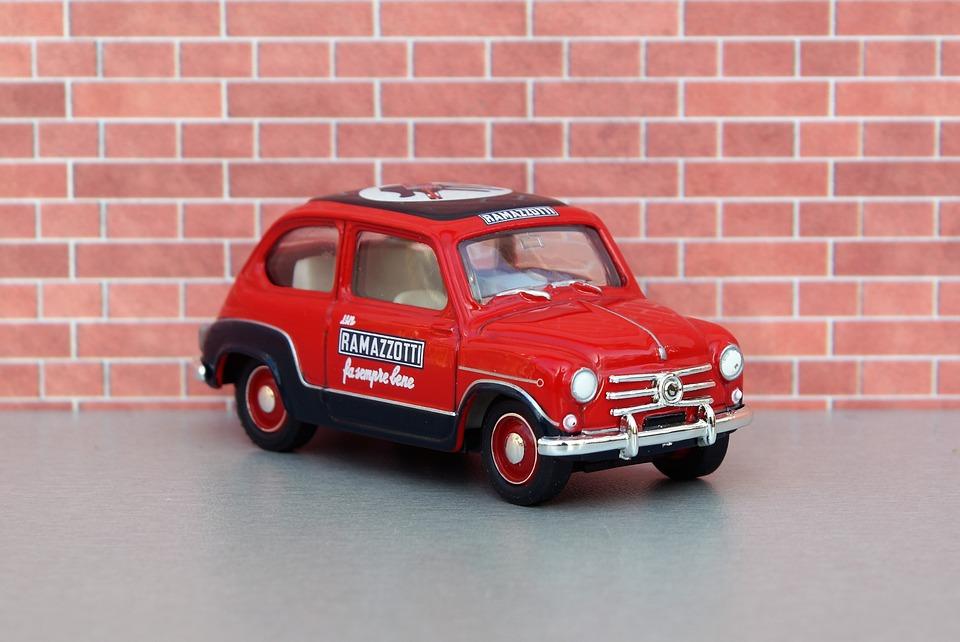 Model Car, Fiat 500, Fiat 600, Auto, Oldtimer, Italy