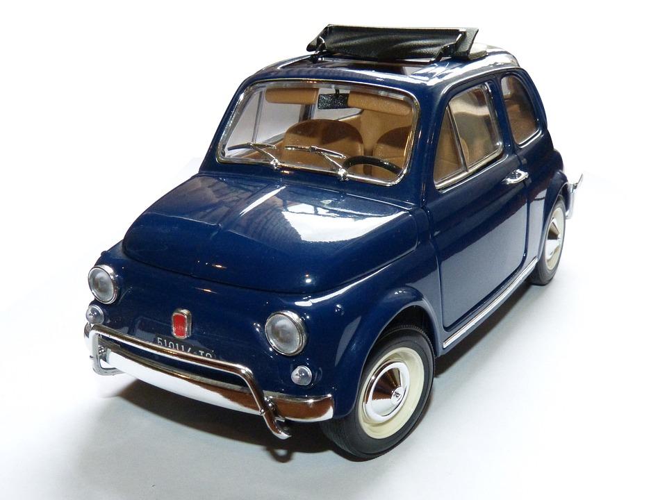Toy, Toy Car, Miniature, Fiat 500