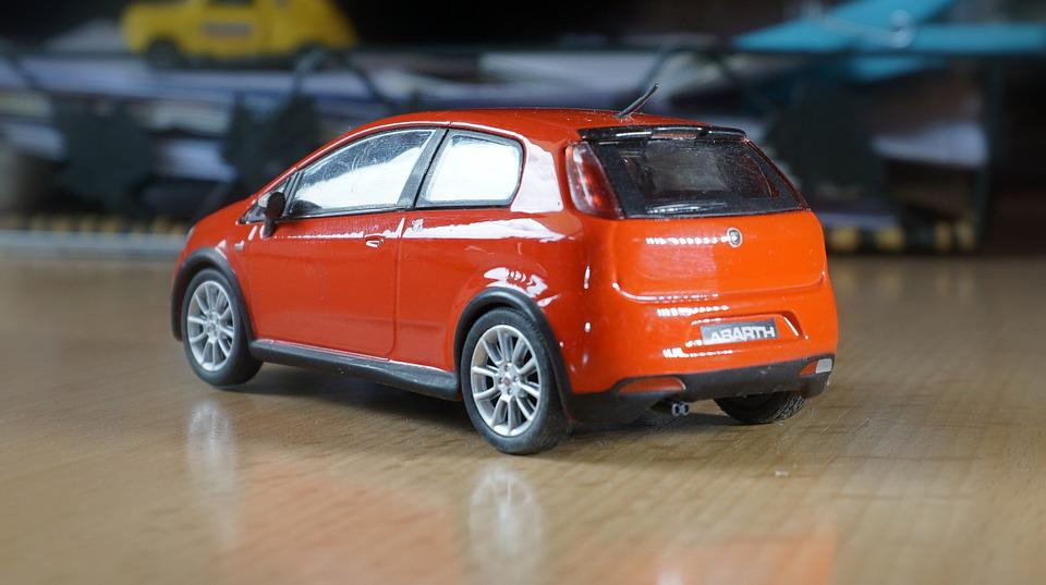 Fiat, Abarth, Red, Red Car, Miniature, Collection