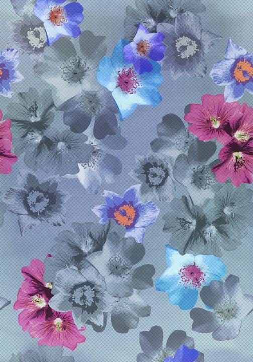 Flowers, Pattern, Point, Fiber, Wire Netting