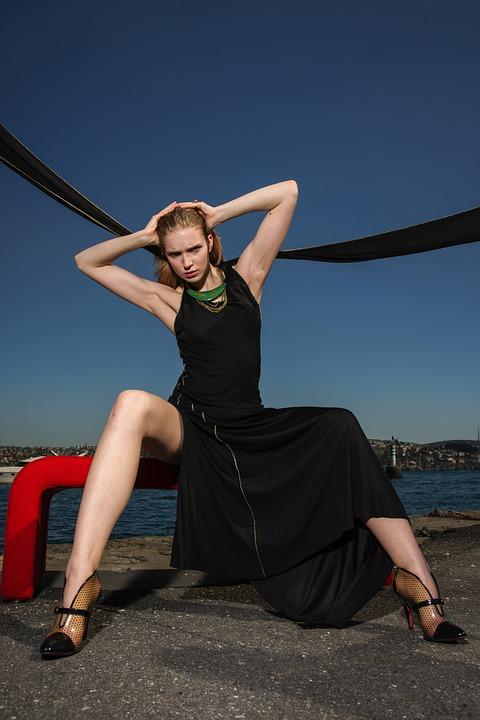 Woman, Dress, Black, Beauty, Art, Fiction, Freedom