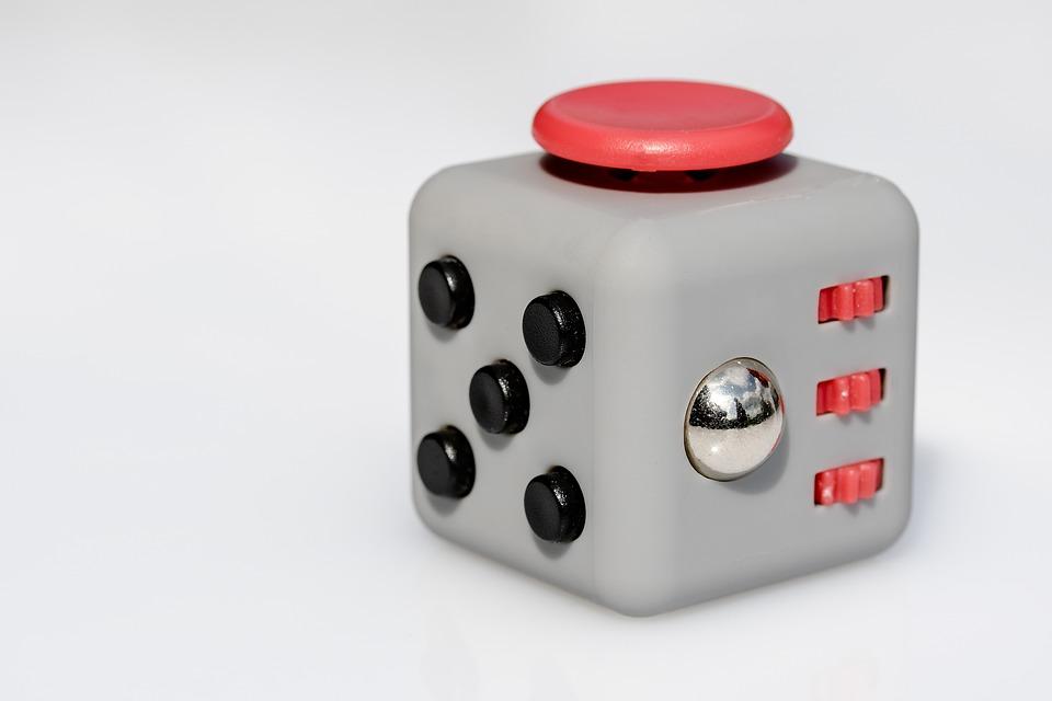 free photo fidget cube toys five buttons vinyl dice max pixel