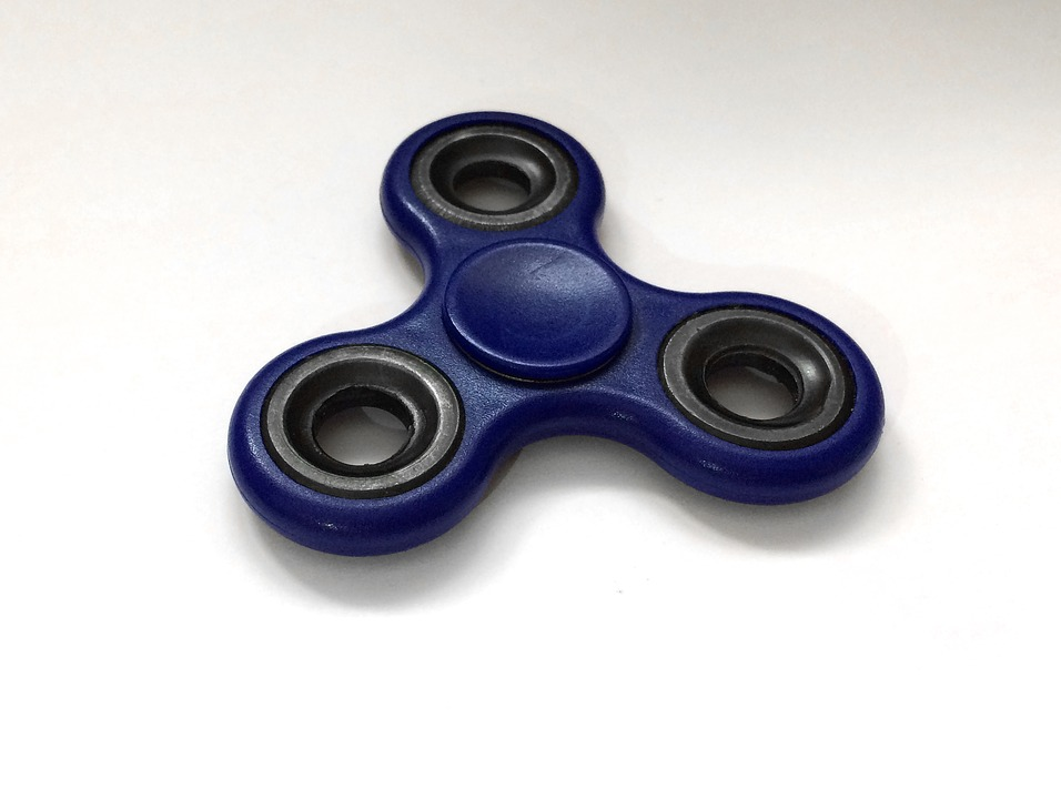 Fidgit Spinner, Toy, Blue, Stress Relief