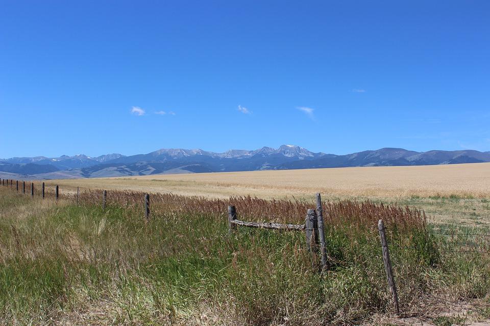 Mountains, Agriculture, Farm, Landscape, Field, Sky