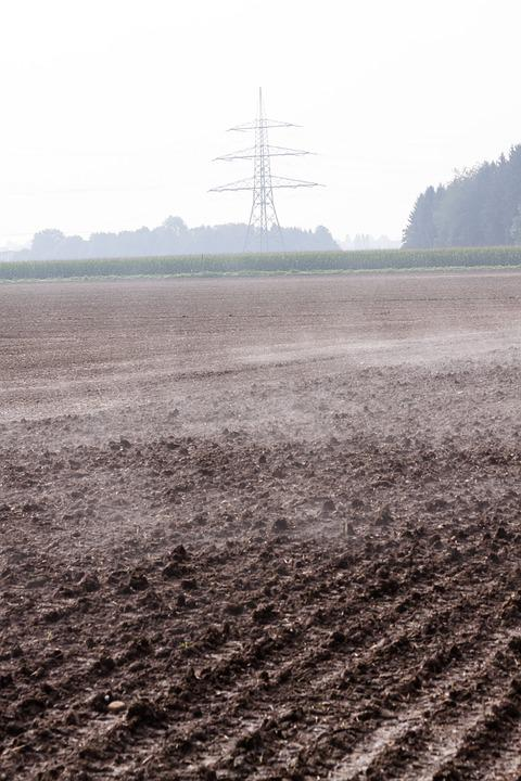 Arable, Field, Plowed, Harrowed, Fog, Steamy, Autumn