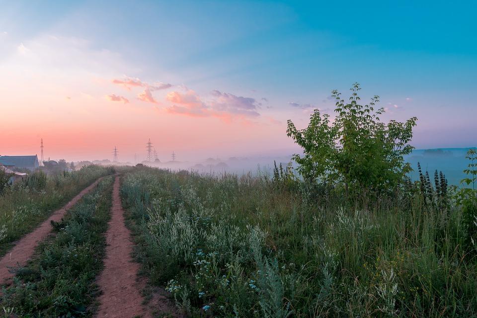 Landscape, Sky, Sunrise, Nature, Sunset, Clouds, Field