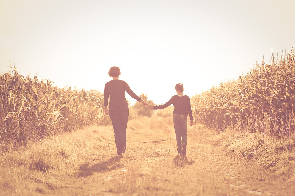 Mother, Daughter, Field, Friendship