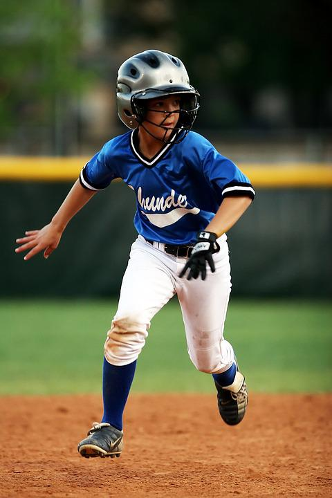 Baseball, Runner, Game, Field, Base, Young, Youth