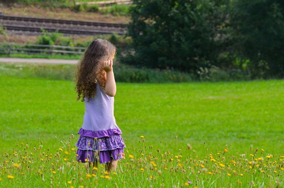 Summer, Grass, Nature, Hayfield, Field, Girl, Outside