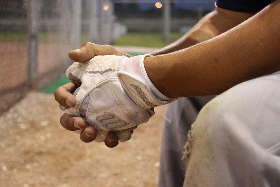 Baseball, Substitute, Bench, Hands, Gloves, Field
