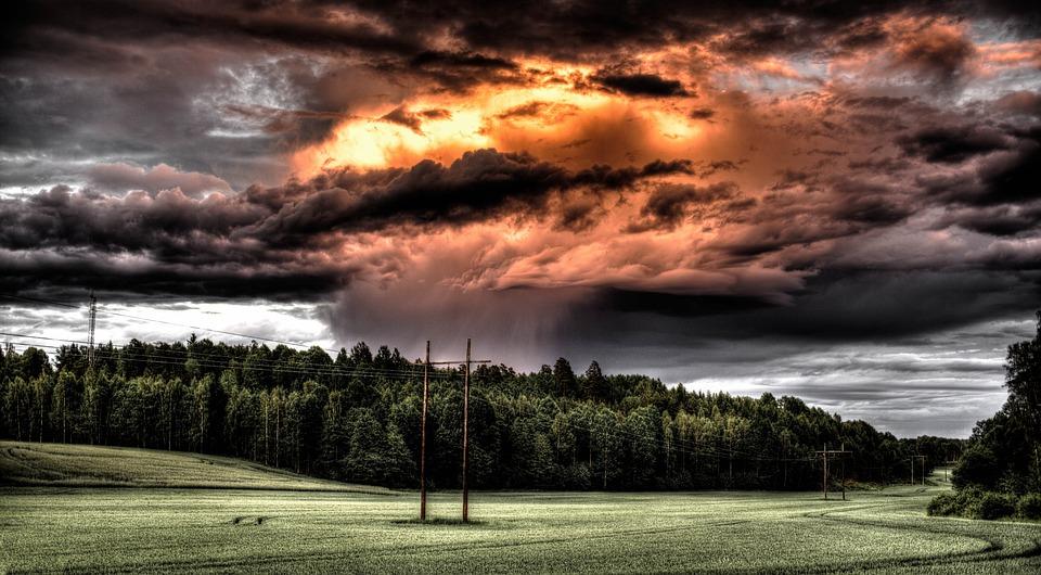 Field, Cloud, Countryside, Hdr, Fire, Rain, Storm