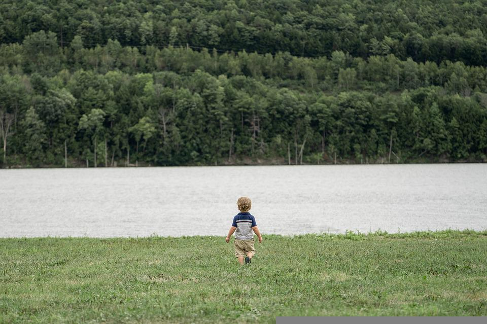 Boy, Child, Lake, Bank, Field, River, Water, Kid, Young