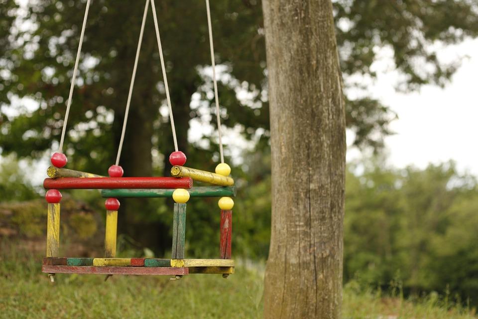 Swing, Tree, Park, Play, Playground, Leisure, Field