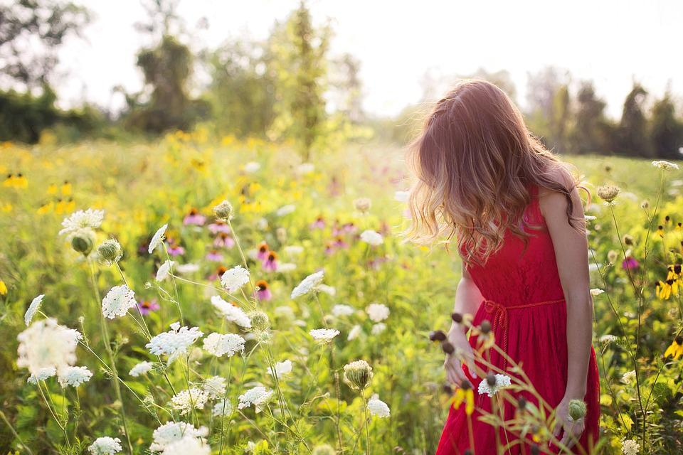 Free photo field pretty summer young woman red flowers max pixel young woman pretty red summer flowers field mightylinksfo