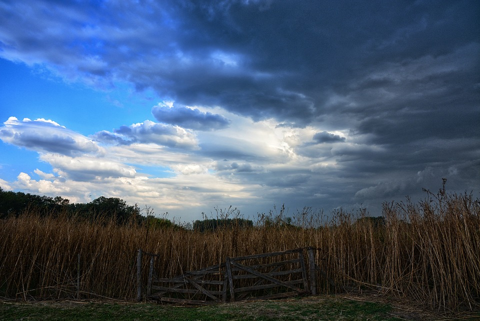 Landscape, Sky, Nature, Outdoors, Field, Gate
