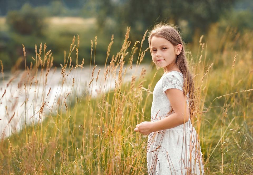 Girl, Child, Childhood, Summer, Field, Grass, Wind