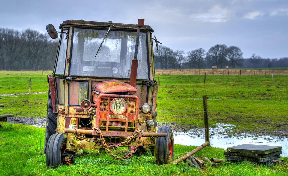 Agriculture, Farm, Field, Tractor, Rural, Hdr, Land