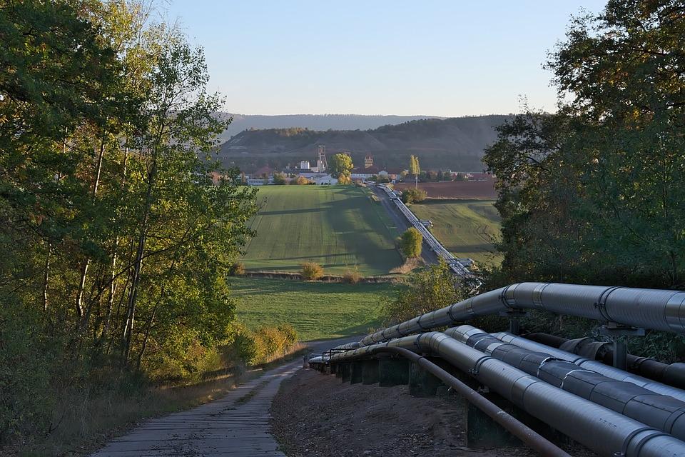 Evening Sun, Mine, Piping, Autumn, Fields, Arable