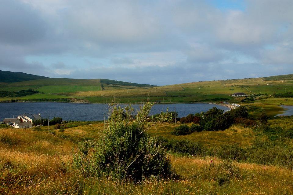 Landscape, Ireland, Summer, Mood, Sea, Ocean, Fields
