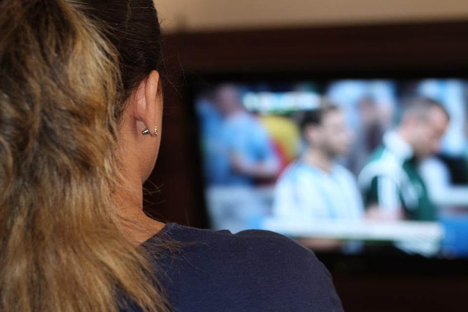 Woman, Watching Tv, Tv, Fifa World Cup, Game, Football