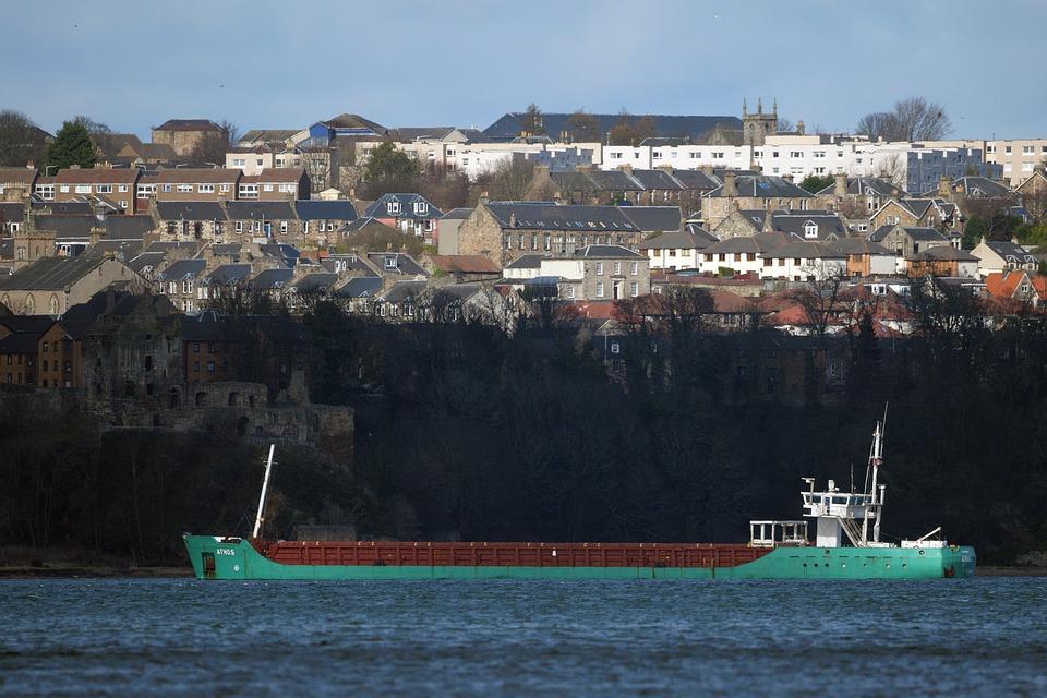 Coaster, Boat, Fife, Estuary, Forth, Scotland, Ship