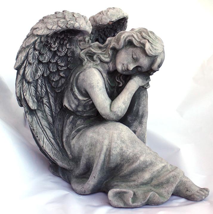 Angel, Fig, Faith, Sculpture, Sleeping, Dreaming, Rest