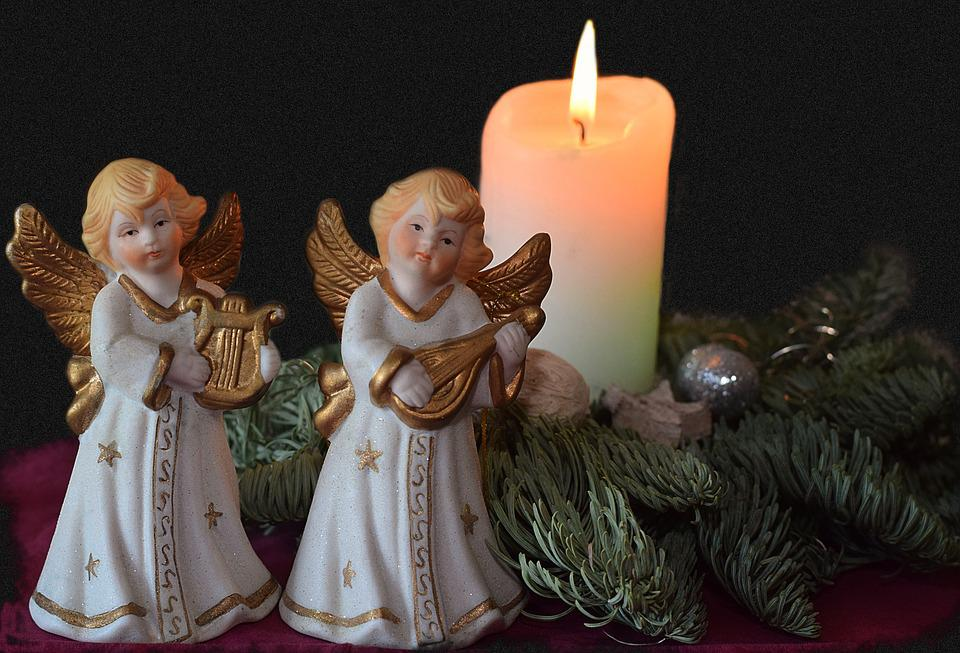 Angel, Advent, Candle, Fig, Decoration