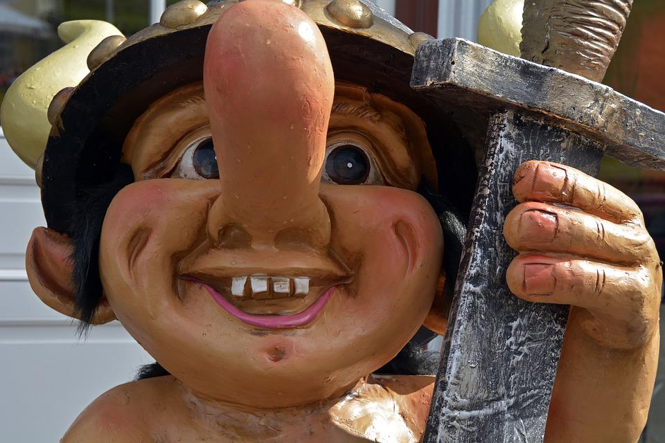 Viking, Fig, Decoration, Sword, Nose, Caricature, Laugh