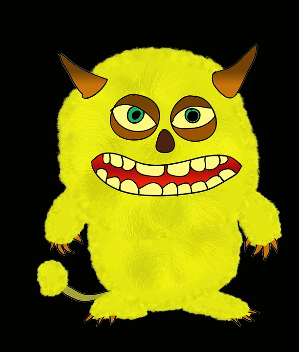 Monster, Troll, Halloween, Shudder, Fig, Devil, Yellow