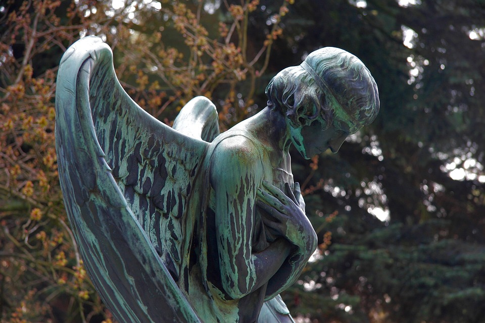 Mourning, Angel, Sculpture, Cemetery, Fig, Angel Figure