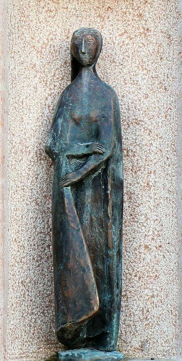 Maria, Mother Of God, Fig, Statue, Sculpture, Coat