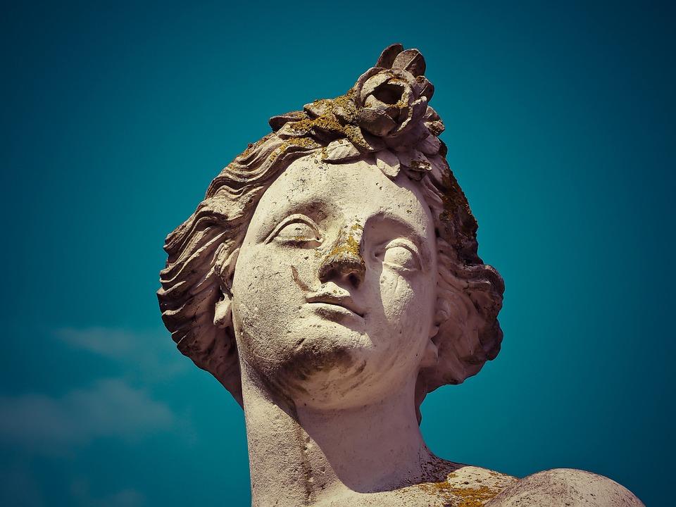 Statue, Sculpture, Fig, Historically, Castle Benrath