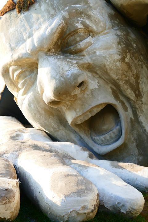 Ervin Ahmad Lóránth, Sculpture, Giant, Stone, Cry, Fig