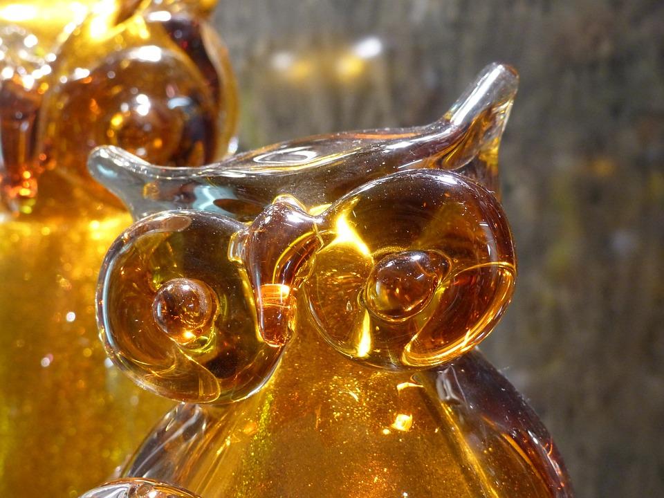 Glass, Owl, Fig, Transparent, Wisdom