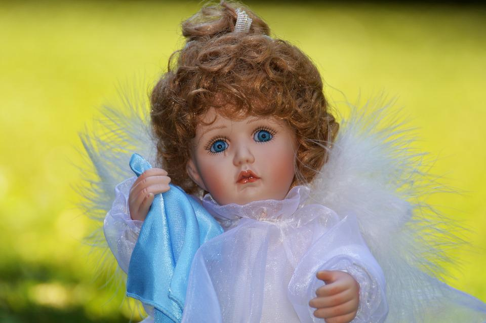 Little Angel Toys : Free photo fig wing cute sad angel toys doll little