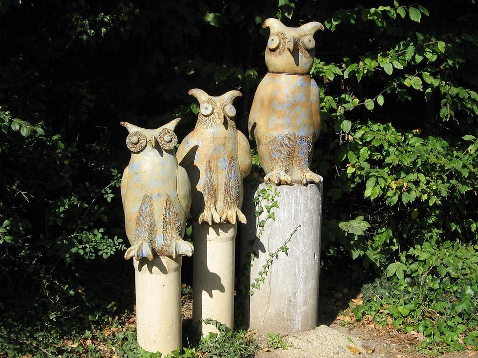 Owls, Wood, Artwork, Wood Carving, Carving, Carved, Fig