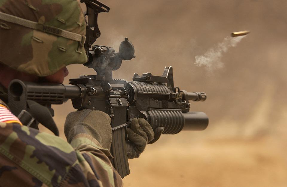 Soldier, Submachine Gun, War, Fight, Rifle, Firearm