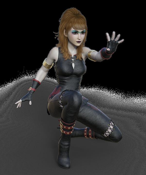 Woman, Self-defense, Fight, Sport, Fantasy, Magic