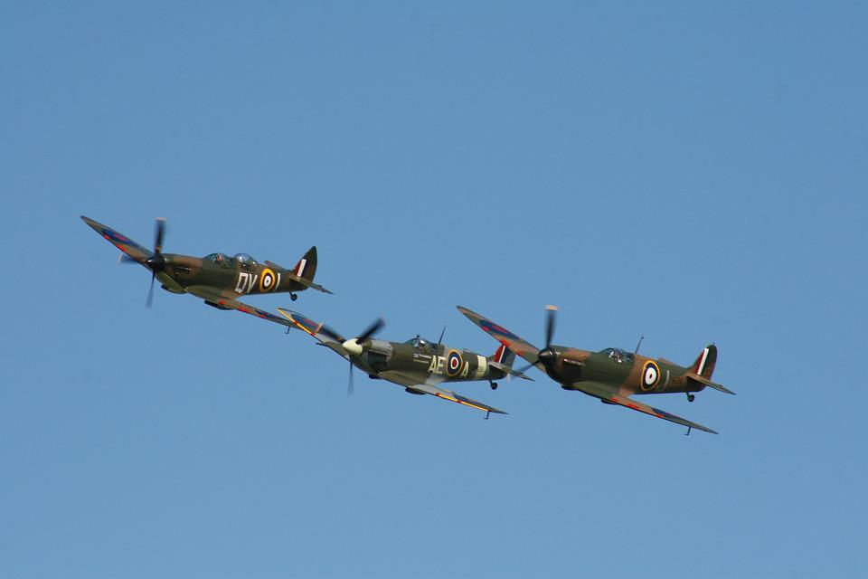 Spitfire, Aircraft, War, Plane, Fighter, Airplane, Air